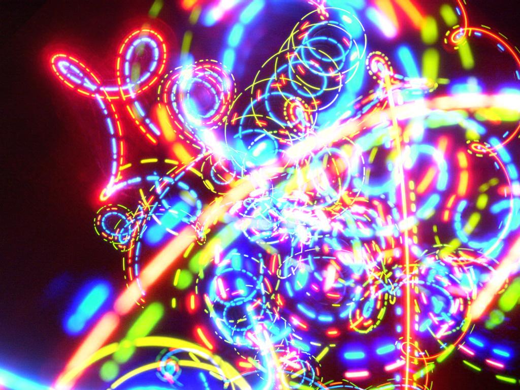 Fotográfia psicodélica de luces LED